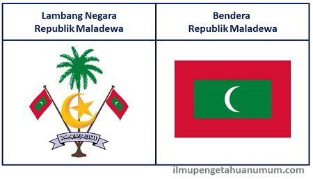 Lambang negara Maladewa dan Bendera Maladewa (Maldives)