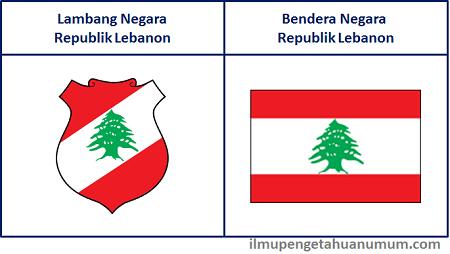Lambang Negara Lebanon dan Bendera Lebanon
