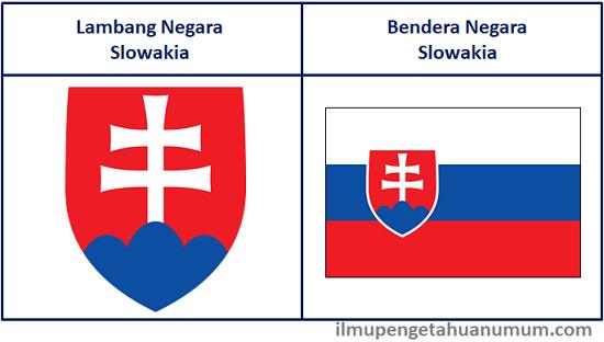 Lambang Negara Slowakia dan Bendera Slowakia